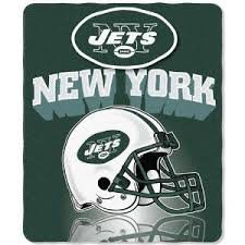 NFL New York Jets Gridiron Fleece Throw, 50-inches x 60-inches