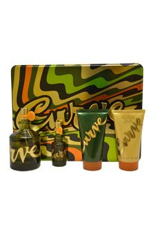 Liz Claiborne Curve Gift Set for Men (Cologne Spray, Skin Soother, Cologne Spray, Body Wash)