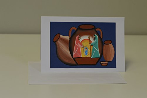 Card Scene Nativity Christmas (Hand-painted Christmas Card,