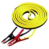 12' Medium Duty 8 Gauge Booster Cables with 400 Amp Clamps Tools Equipment Hand Tools