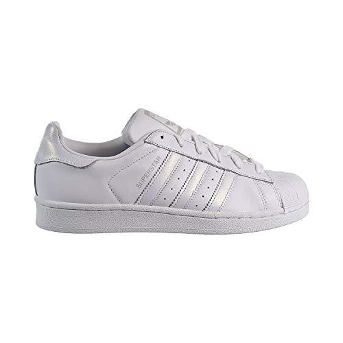 adidas Originals Women's Superstar Shoes Running White/Grey,