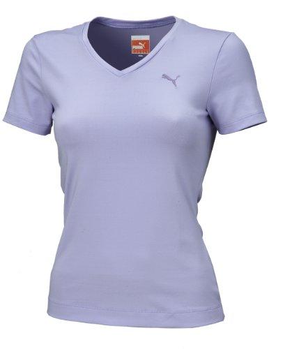 615823907 PUMA T-shirt de course à manches courtes Femme Couleur : Noir violet Viola - sweet lavender XXL