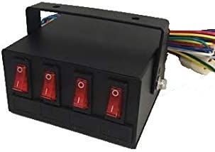 Superior LED Light Switch Box Control Unit Fuse Protection 6 Lighted On Off Switches NEW
