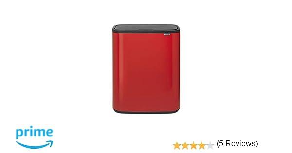 Brabantia Bo Touch Bin Cubo de Basura, Passion Red, 2 x 30 l ...