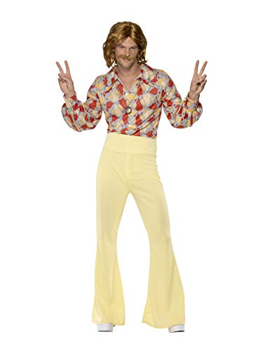 Smiffys Men's 1960's Groovy Guy Costume, Shirt and