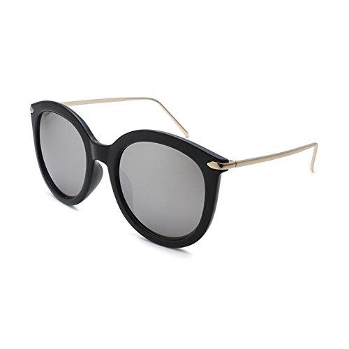 WYYY de Gris Color Clásico Polarizada sol Luz gafas Protección UV Hombres UVA Anti Protección Transparente Espejo 100 Decoración Sra Solar Retro rA5BrwRqx