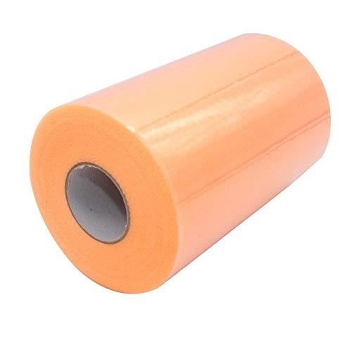 - FairOnly C White Color 6''X100 Yard Matt Tulle Roll Spool 6inch x 100yard (6inch x 300ft) Tutu Wedding Gift Party Bow 20D Peach