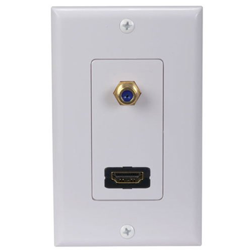 - audiovox dh202r HDMI F Connector Wall Plate