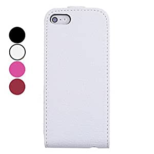Solid Color PU Leather Full Body Case for iPhone 5/5S(Assorted Colors) --- COLOR:1