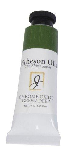 Jack Richeson 37-Ml Artist Oil Colors, Chrome Oxide Green Deep - Chrome Oxide Green