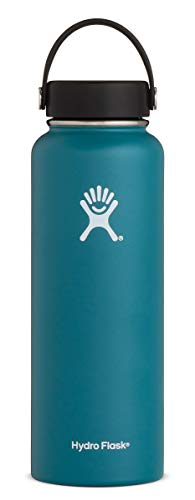 Hydro Flask 40 oz Water Bottle - Stainless Steel & Vacuum Insulated - Wide Mouth with Leak Proof Flex Cap - Jade