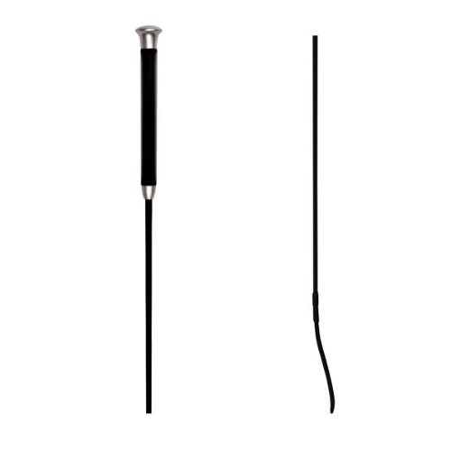 Waldhausen Dressurgerte mit Gelgriff, schwarz, 120 cm, 120