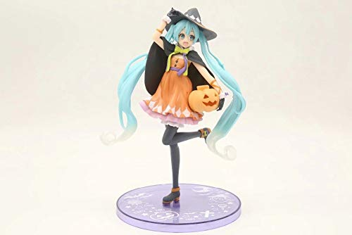 18CM Japanese Anime Figure Hatsune Miku Pumkin Halloween Action Figure Collectible Model Toys for Boys]()