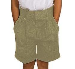 French Toast Girls' Pleated Short School Uniform (Khaki or Navy) (6X, Khaki)