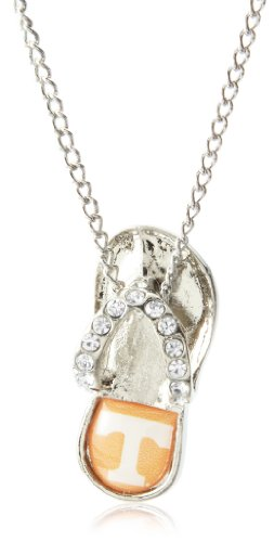 aminco NCAA Tennessee Volunteers Crystal Flip Flop Necklace by aminco