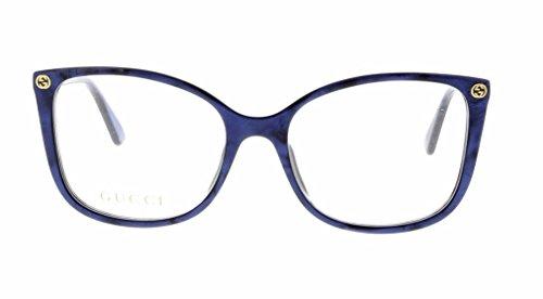 Mens Accessories Eyeglass Frames - Eyeglasses Gucci GG 0026 O- 005 BLUE /