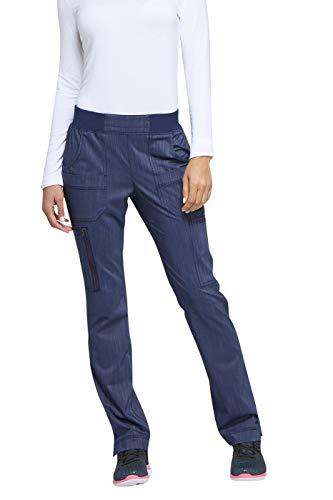 - Women's Advance Two-Tone Twist Mid Rise Tapered Leg Rib Knit Waist Scrub Pants