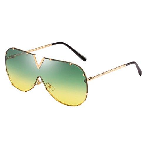 Soleil de pour Armature et Ladies Confort Hommes en Sunglasses Green Métal Grand Zhuhaitf Carré Cadre Mens Lunettes Femmes Unisexe des Sens Lunettes aZSxgq