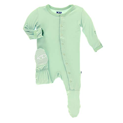 Kickee Pants Little Boys and Girls Solid Footie with Snaps - Pistachio, 9-12 Months ()