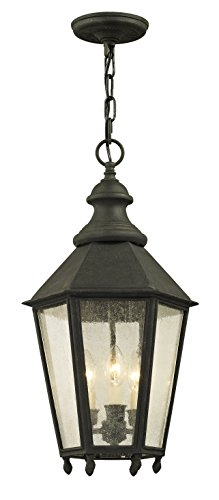 Ceiling Chandelier Savannah (Troy Lighting F6437 Savannah Outdoor Pendant, Vintage Iron)