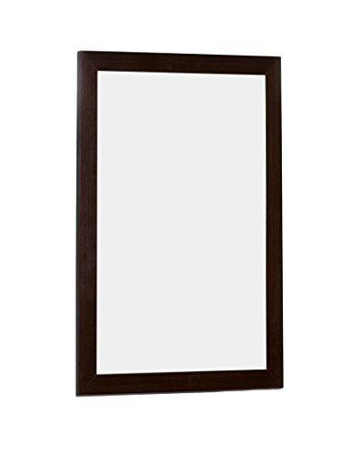 21.25-in. W x 31.5-in. H Modern Plywood-Veneer Wood Mirror In Wenge by (Wood Plywood Veneers)