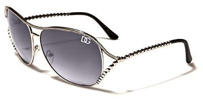 Fashion Eyewear Ladies Womens Metal Studded Stylish Aviator Sunglasses-DG4678-Several Colors Available