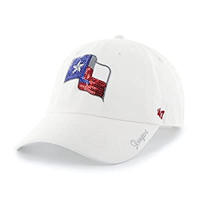 Women's MLB Texas Rangers Sequin Embroidered Logo Relaxed Cap by '47 Brand