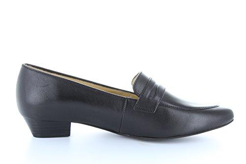 Damen geschlossene Pumps spitz Ara Weite G kleine Absatz schwarz Leder Schwarz