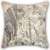 [Beautifulseason Oil Painting Hans Krumper - The Visitation Cushion Covers 18 X 18 Inches / 45 By 45 Cm Gift Or Decor For Boys,shop,deck Chair,home Office,office,lover - Double] (Nightwing Costume Amazon)