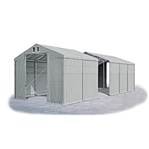 Das Company Tendone Deposito 4x16x3,5 m Tendone Bianco ignifugo Impermeabile 620g/m² Tenda da stoccaggio Rinforzo dell… 6 spesavip