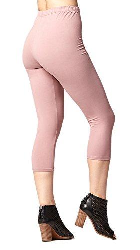 d50834f6b035f7 Conceited Premium Ultra Soft Capri Leggings - High Waist - Regular and Plus  Size - 15