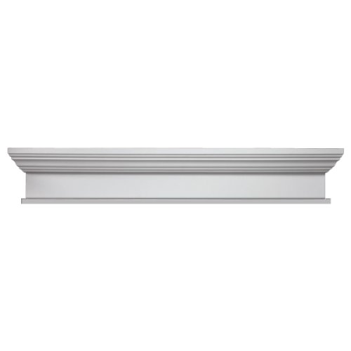 Fypon WCH79X7BT 79''W x 82 1/2''OW x 7''H x 1''P Crosshead with Bottom Trim by Fypon