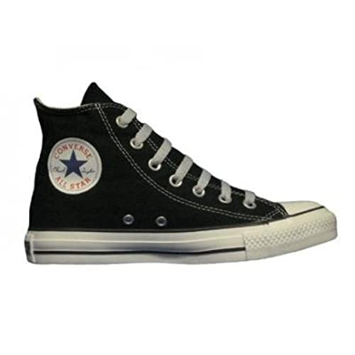 3efbb0a5555962 Converse Chuck Taylor All Star Hi Top Black Canvas Shoes with Extra Pair of  Grey Laces
