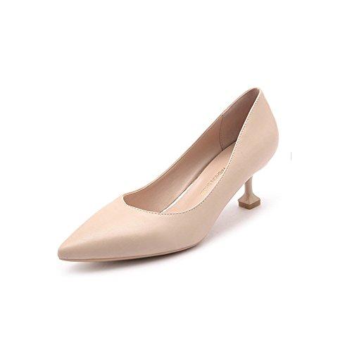 5 cm de Mujer Xue Trabajo con Zapatos para Qiqi Tac PWqYS