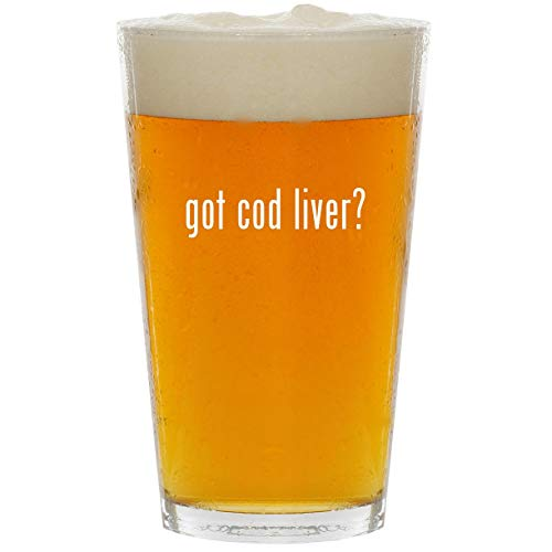 got cod liver? - Glass 16oz Beer Pint