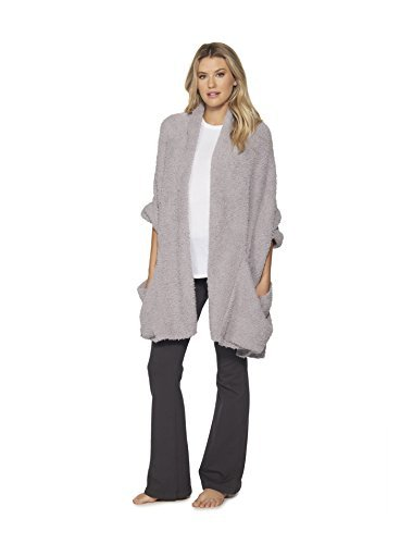 Barefoot Dreams Cozychic Womens Travel Shawl (Dove)