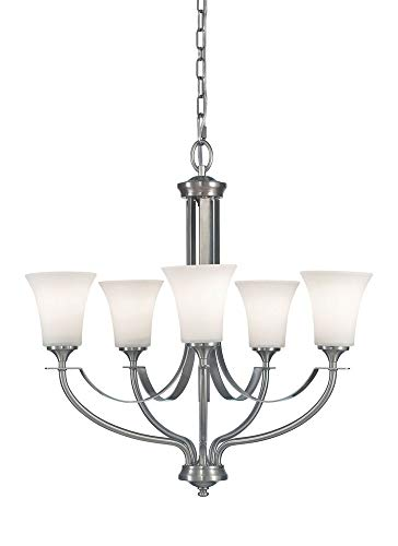 Barrington 5 Light Chandelier Finish: Brushed Steel ()