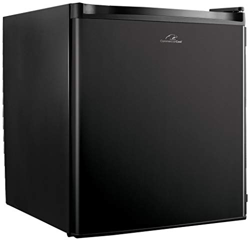 Commercial Cool CCR16B Compact Single Door Refrigerator and Freezer, 1.6 Cu. Ft. Mini Fridge, Black (Renewed)