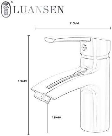 ZY-YY バスルームのシンクは、スロット付き浴室の洗面台のシンクホットコールドタップミキサー流域の真鍮シンクミキサータップ浴室の洗面単穴洗面台の蛇口のすべての銅家庭用ホット&コールド流域の蛇口をタップ