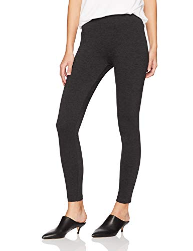 Amazon Brand - Daily Ritual Women's Ponte Knit Legging, Charcoal, Large Regular