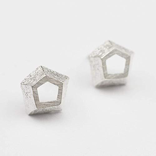 Moderne Ohrringe Silber Echt Schmuck Geometrische Ohrstecker Amazon