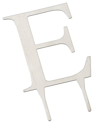Weddingstar 3 Inch H Brushed Silver Monogram - Letter
