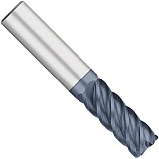 "product image for Kodiak Cutting Tools KODIAK150269 USA Made High Performance Solid Carbide End Mill, 45 Degree, 5 Flute, 1/8"" Diameter, 1/8"" Shank, 1/2"" Length of Cut, 1-1/2"" Overall Length"