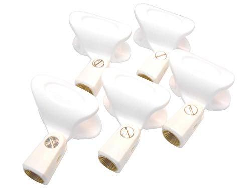 Audio2000'S S4111 5-PK White Wireless Microphone Holders Microphone Clips ()