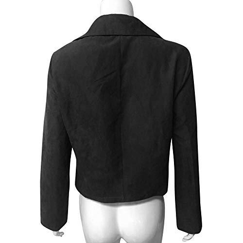 Colletto Anteriore Invernale Femminile Oudan Wrap Per Casuale Antivento Libero All'aperto Moda Tempo Cappotto Inverno Abbigliamento Giacca Nero Il 8qq5YH