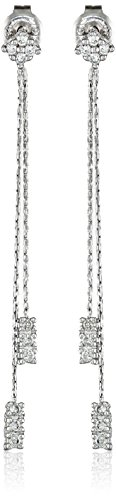 10k White Gold Diamond Drop Earrings (1/4 cttw, I-J Color, I2-I3 Clarity) by Amazon Collection