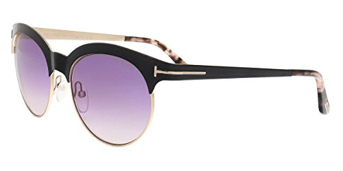 Tom Ford Sunglasses TF 438 Angela 01F Black & Pink Tortoise - Eyewear For Men Ford Tom