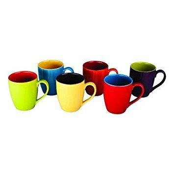 BIA Cordon Bleu Colored Mugs, Set of 6 ()