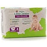 Happy Little Camper Natural Diapers, Flushable Wipes, Size 4, Monthly Pack, 160 Count