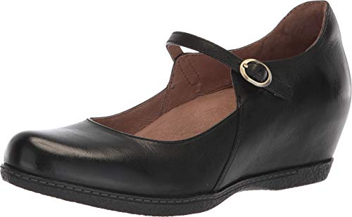 - Dansko Women's Loralie Black/Black Burnished Nubuck 38 Regular EU Regular